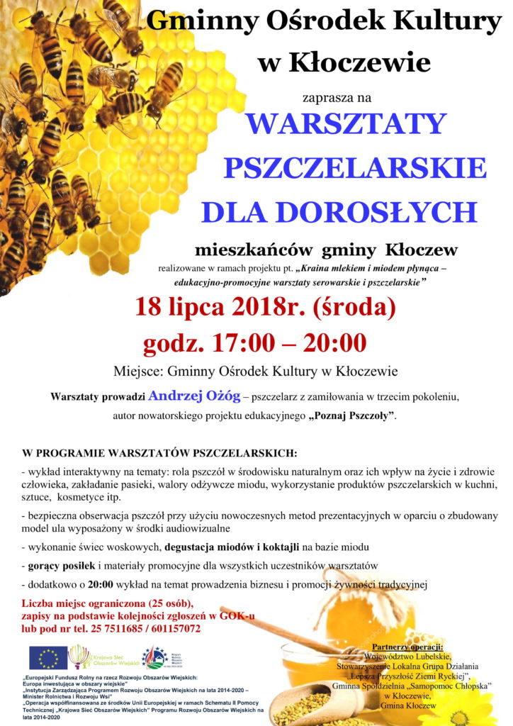 warsztaty pszczelarskie dla dorosłych