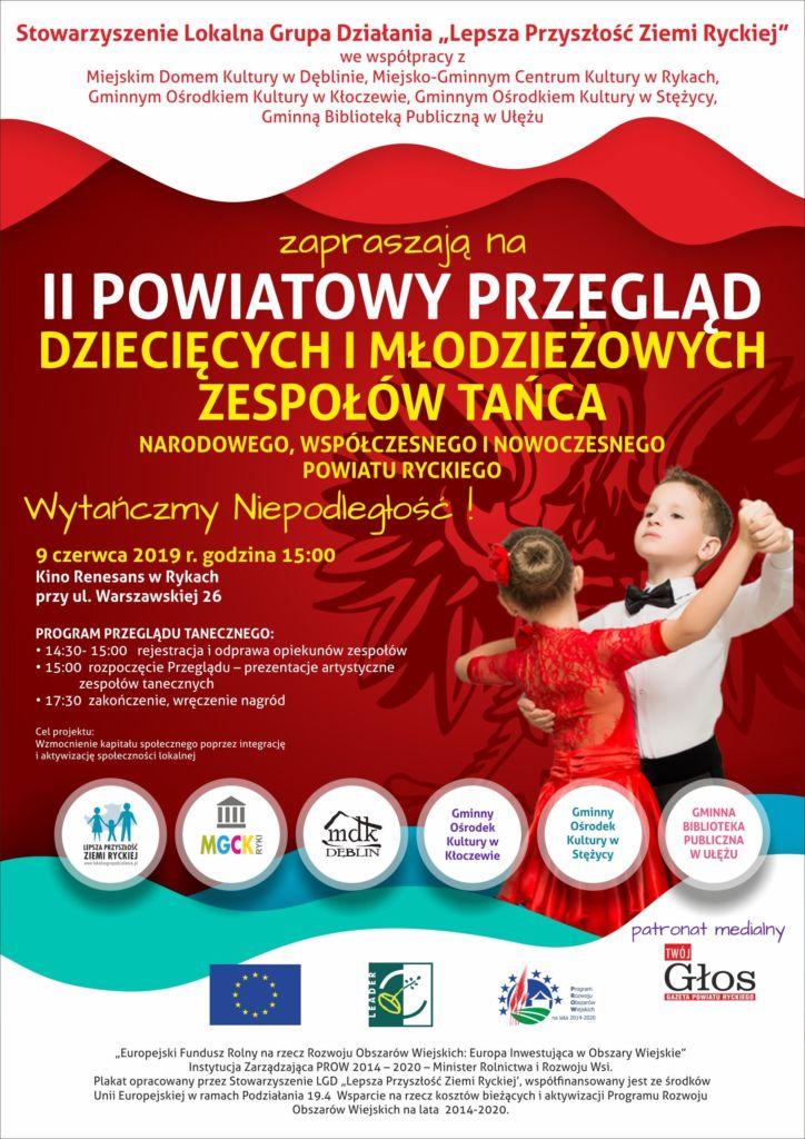 Przegląd taneczny plakat